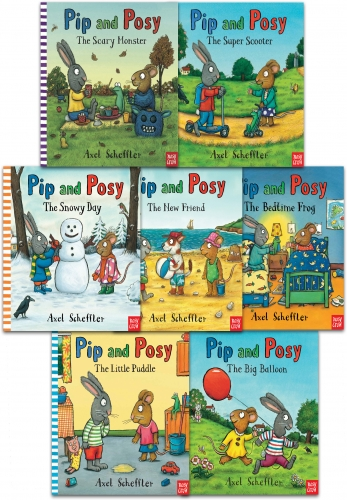 Pip and Posy Collection Axel Scheffler 7 Books Set - New Friend  Big Balloon  Bedtime Frog  Snowy Day  Little Puddle  Super Scooter  Scary Monster by Axel Scheffler