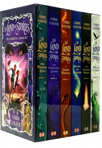 Land of Stories Chirs Colfer Collection 6 Books Box Set Wishing Spell, Grim Warning, Enchantress Returns, An Authors Oddyssey, Worlds Collide by Chirs Colfer