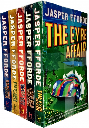 Jasper Fforde Thursday Next Series Collection 5 Books Set Eyre Affaire Lost In a Good Book Well Of Lost Plot Something Rotten First Among Sequel by Jasper Fforde