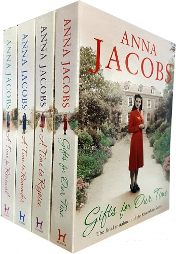 Anna Jacobs Rivenshaw Saga Series Collection 4 Books Set A Time to Remember A Time for Renewal A Time to Rejoice Gifts For Time by Anna Jacobs