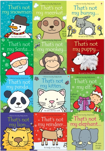 That's Not My Toddlers 12 Books Collection Set Pack Fiona Watt (Touchy-Feely Board Books) by Fiona Watt, Rachel Wells