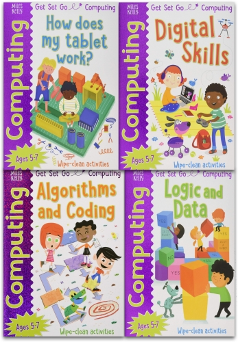 Miles Kelly Computing Collection 4 Books Set By Tech Age Kids Logic and Data, How does my tablet work, Algorithms and Coding, Digital Skills by Tech Age Kids