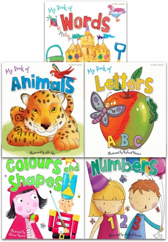 Miles Kelly My First Words and Number Collection 5 Books Set My Book of Letters, Numbers,  Animals, Words, Colours and Shapes by Susan Purcell