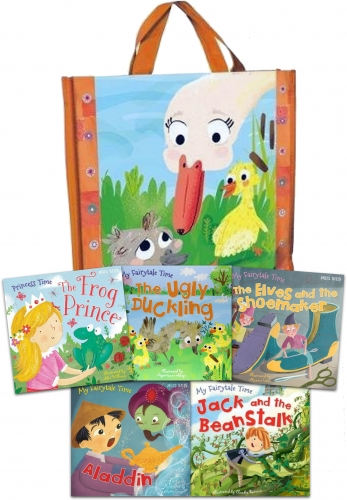 My Fairytale Adventure Collection 5 Books Set - Aladdin, Jack and the Beanstalk, The Elves and the Shoemaker, The Frog Prince, The Ugly Duckling by Belinda Gallagher