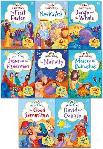Miles Kelly My Bible Sticker Activity and Stories Collection 8 Books Set by Vic Parker