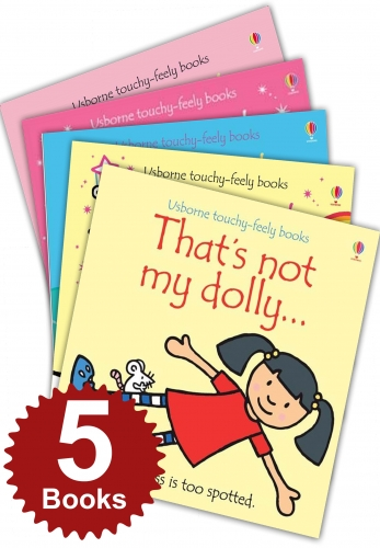 Thats Not My Girls Collection Touchy-Feely 5 Books Set Thats Not My Mermaid Fairy Dolly Baby Girl Unicorn by Fiona Watt, Rachel Wells