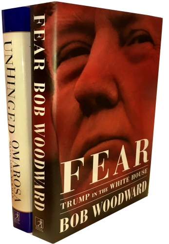 Trump in the White House 2 Books Collection Set Fear Trump in the White House, Unhinged An Insiders Account of the Trump White House by Bob Woodward, Omarosa Manigault Newman