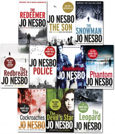 Jo Nesbo Harry Hole Thriller Collection 10 Books Set- Police, Son, Leopard, Phantom, Devil's star, Cockroaches, Snowman, Redeemer, Redbreast by Jo Nesbo