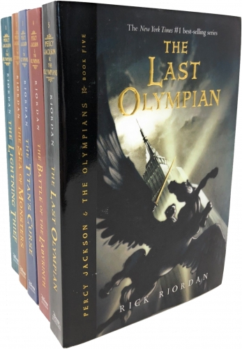 Percy Jackson and the Olympians Collection Rick Riordan 5 Books Set (Last Olympian, The Titans Curse, The Battle of the Labyrinth, The Sea of Monster) by Rick Riordan