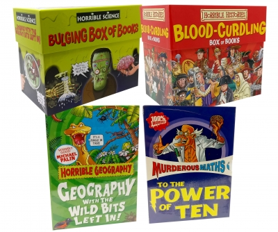 Horrible Collection 62 Books Box Set (Horrible Geography, Horrible Histories, Horrible Science and Murderous Maths) by Anita Ganeri, Terry Deary, Martin Brown, Nick Arnold, Kjartan Poskitt