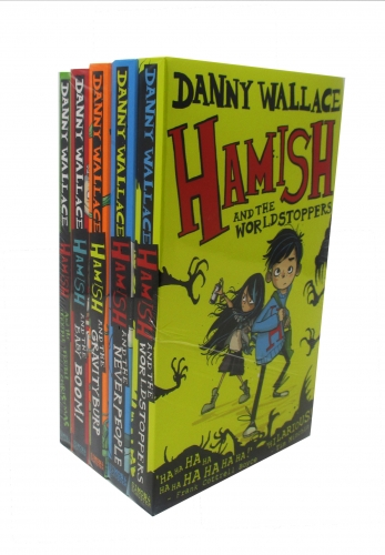 Danny Wallace Collection Hamish Series Set of 5 Books - The Worldstoppers, The Never People, The Gravity Burp, The Baby Boom, The Terrible Christmas by Danny Wallace