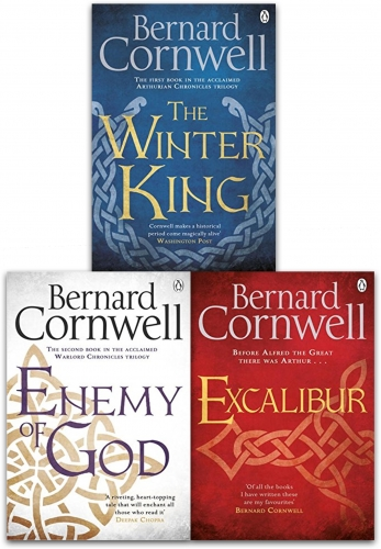 Bernard Cornwell Warlord Chronicles Collection 3 Books Set The Winter King, Excalibur and  Enemy of God by Bernard Cornwell