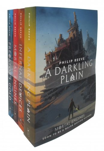 Mortal Engines Quartet Collection Series 4 Books Set (A Darkling Plain, Infernal Devices, Mortal Engines, Predator's Gold) by Philip Reeve