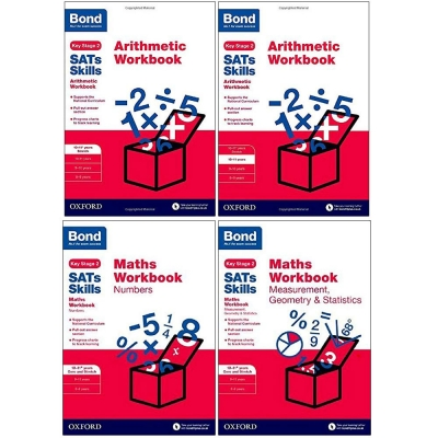 Bond SATs Skills - Arithmetic and Maths Workbook 10-11 Years 4 Books Set by Sarah Lindsay and Andrew Baines