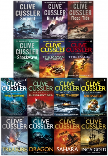 Clive Cussler 14 Books Collection Set Dirk Pitt Series Dragon, Treasure, Inca Gold by Clive Cussler