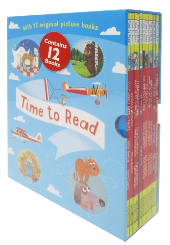 Time To Read Collection 12 Books Set Ladybird Heard, A Squash, Football Fever, Hamilton Hats, The Broom, The Gruffalo, Gruffalo Child, King Cat by Various