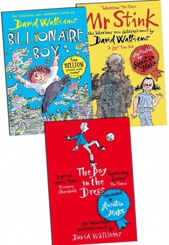 David Walliams Books Collection - 3 Books Set Billionaire Boy, Mr Stink, The Boy in the Dress by David Walliams