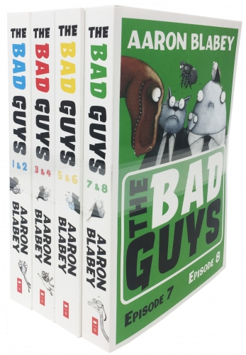The Bad Guys 4 Books Collection Set - Episode 1 to 8 by Aaron Blabey
