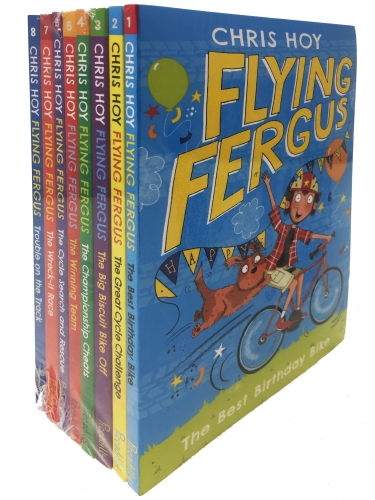 Flying Fergus Series 8 Books Collection Set by Chris Hoy(Author), Clare Elsom(Illustrator)