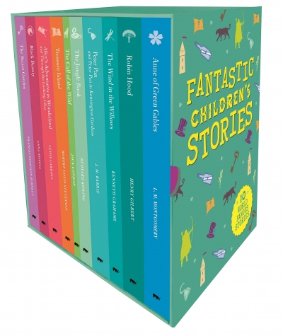 Fantastic Childrens Classic Stories 10 Books Slipcase Collection Set with a Fantastic Pullout Wallchart by Arcturus Publishing Ltd