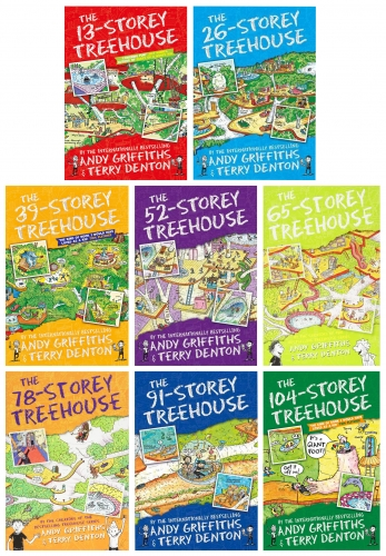 Andy Griffiths The Treehouse Collection 8 Books Set 13 Storey, 26 Storey, 39 Storey, 52 Storey, 65 Storey, 78 Storey, 91 Storey, 104 Storey by Andy Griffiths (Author), Terry Denton (Illustrator)
