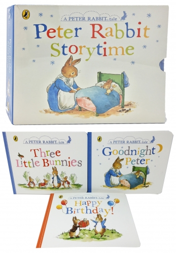Peter Rabbit Story Time, 3 Books Collection Box Set Childrens Classic Gift Set - Age 3 to 5 - Early Readers by Beatrix Potter