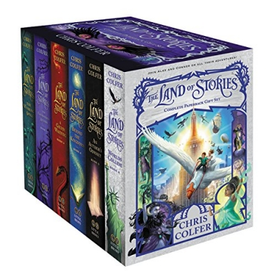Chris Colfer The Land of Stories 6 Books Complete Collection Box Set HB - Wishing Spell Enchantress Returns Grimm Warning Beyond the Kingdoms by Chris Colfer