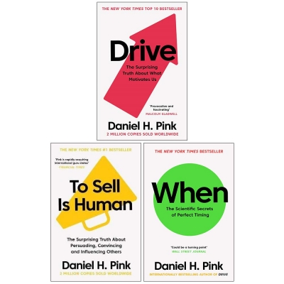 Daniel H Pink The Surprising Truth 3 Books Collection Set When Drive To Sell is Human by Daniel H. Pink