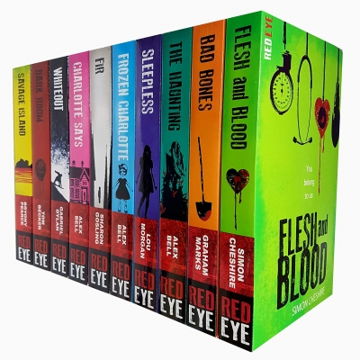 Red Eye Series Collection 10 Books Set Dark Room, Flesh and Blood, Sleepless, Frozen Charlotte, The Hunting, Savage Island, Fir, Charlotte Says by Various