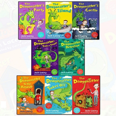 Josh Laceys 8 Books Collection Set - The Dragonsitter, Detective, Trick Or Treat, To The Rescue, Party, Island, Castle, Takes off by Josh Lacey