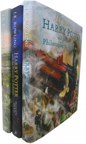 Harry Potter 3 Books Set Illustrated By Jim Kay - Philosophers Stone, Prison Of Azkaban, Chamber Of Secrets by JK Rowling