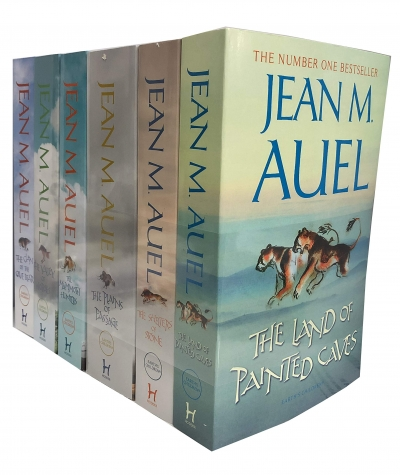 Jean M Auel 6 Books Earths Children Collection Set - The Clan of The Cave Bear, The Valley of Horses, The Mammoth Hunters, Plains of Passage and More by Jean M Auel