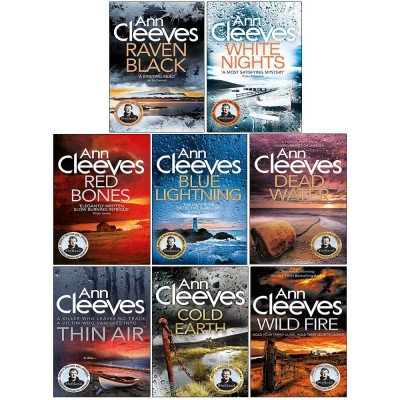 Ann Cleeves Shetland Series Collection 8 Books Set (Book 1-8) (Blue Lightning, Raven Black, White Nights, Red Bones, Cold Earth, Thin Air and More) by Ann Cleeves