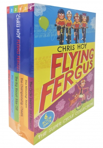 Chris Hoy Flying Fergus The Super Cycle 6 Books Collection Set - Cycle Search and Rescue, Winning Team,Championship Cheats,Best Birthday Bike and More by Chris Hoy