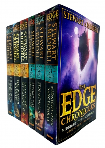The Edge Chronicles Series 6 Books Collection Set (3 Books of The Quint Saga & 3 Books Of Twig Saga) by Paul Stewart & Chris Riddell