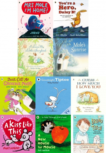 Furry Little Friends Children Illustration Pictures 10 Books Bag Collection Set by Various