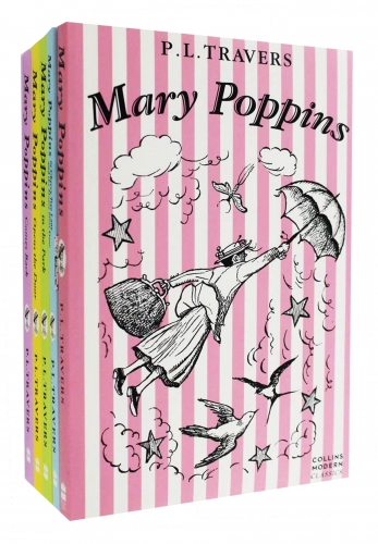 Mary Poppins The Complete Collection 5 Books Set - Mary Poppins, Mary Poppins in the Park,Mary Poppins Opens the Door,Mary Poppins Comes Back and More by P. L. Travers