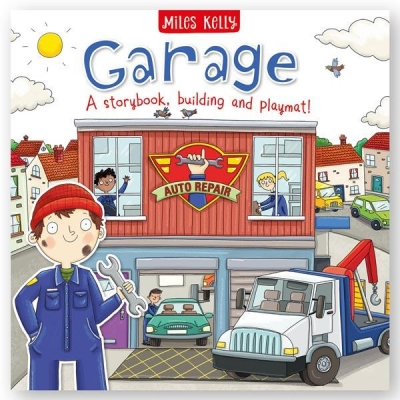 Miles Kelly Convertible Garage 3 in 1 Storybook Building and Playmat by Sarah Parkin