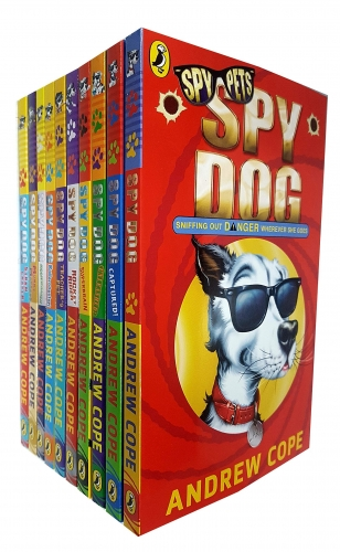Spy Dog Series Andrew Cope Collection 10 Books Set - Unleashed, Mummy Madness, Captured, Rocket Rider, Storm Chaser, Brainwashed, Spy Dog and More by Andrew Cope