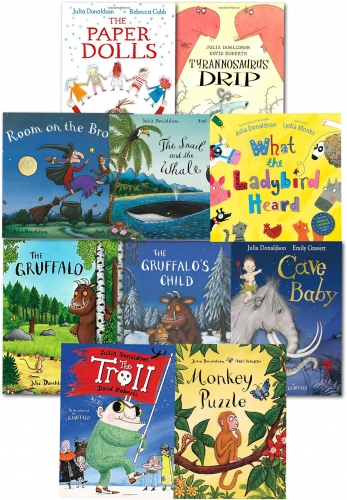 Julia Donaldson Story Collection 10 Books Set in a Bag by Julia Donaldson
