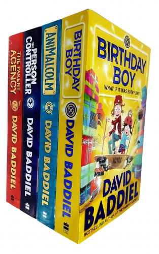 David Baddiel 4 Books Collection Set Birthday Boy Animalcolm The Person Controller The Parent Agency by David Baddiel