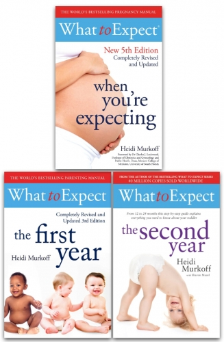What to Expect Series 3 Books Collection Set - What to Expect When You are Expecting 5th Edition, What To Expect 1st Year, What to Expect Second Year by Heidi Murkoff