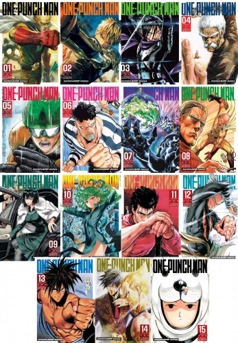 One Punch Man Volume 1-15 Collection 15 Books Set by ONE (Author), Yusuke Murata (Illustrator)
