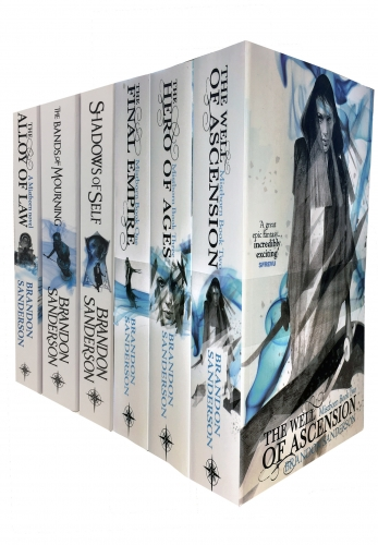 The Mistborn Series 6 Books Collection Set - Hero Of Ages, The Well Of Ascension, The Final Empire, Shadows of Self, Bands of Mourning, Alloy of Law by Brandon Sanderson