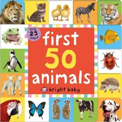 First 50 Animals Lift The Flap Tab over 25 Flaps by Roger Priddy