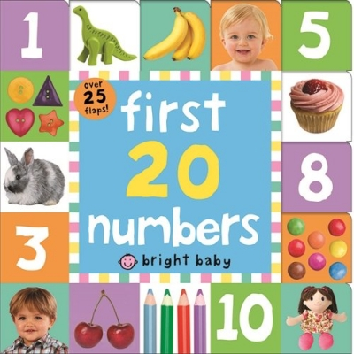 First 20 Numbers Bright Baby Lift-the-Flap Tab Books by Roger Priddy