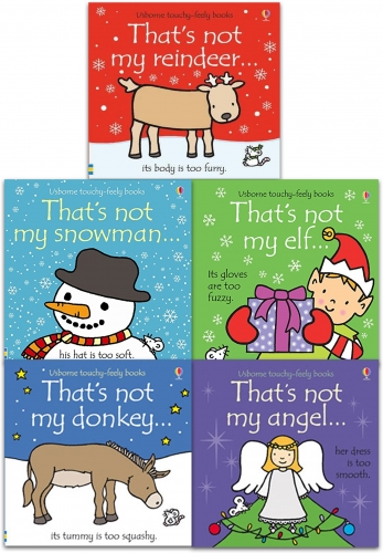 Thats Not My Christmas Series 5 Books Collection Set (Thats Not My Angel, Snowman, Reindeer, Donkey, Elf) by Fiona Watt and Rachel Wells