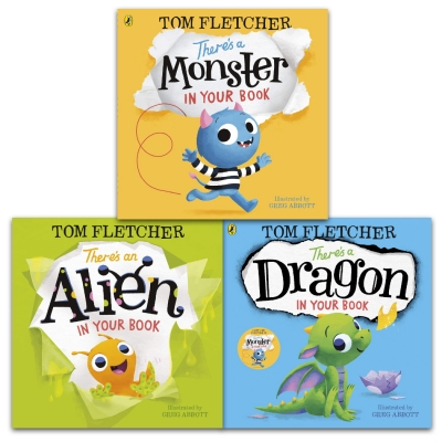 Tom Fletcher There's Series 3 Books Collection Set (There's a Dragon in Your Book, There's a Monster in Your Book, There's an Alien in Your Book [HB]) by Tom Fletcher