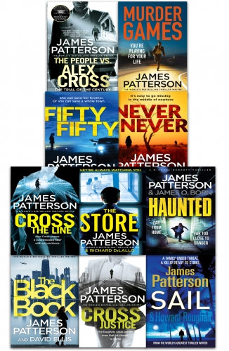 James Patterson Various Series Collection 10 Books Set Pack Cross Sail Fifty Fifty Cross Justice Murder Games by James Patterson