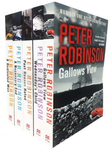 Peter Robinson The Inspector Banks Series 5 Books Collection Set Gallows View, Wednesday Child, Past Reason Hated, A Necessary End, A Dedicated Man by Peter Robinson
